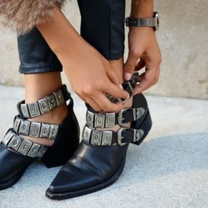 NEW free people Jeffrey Campbell ace western boot